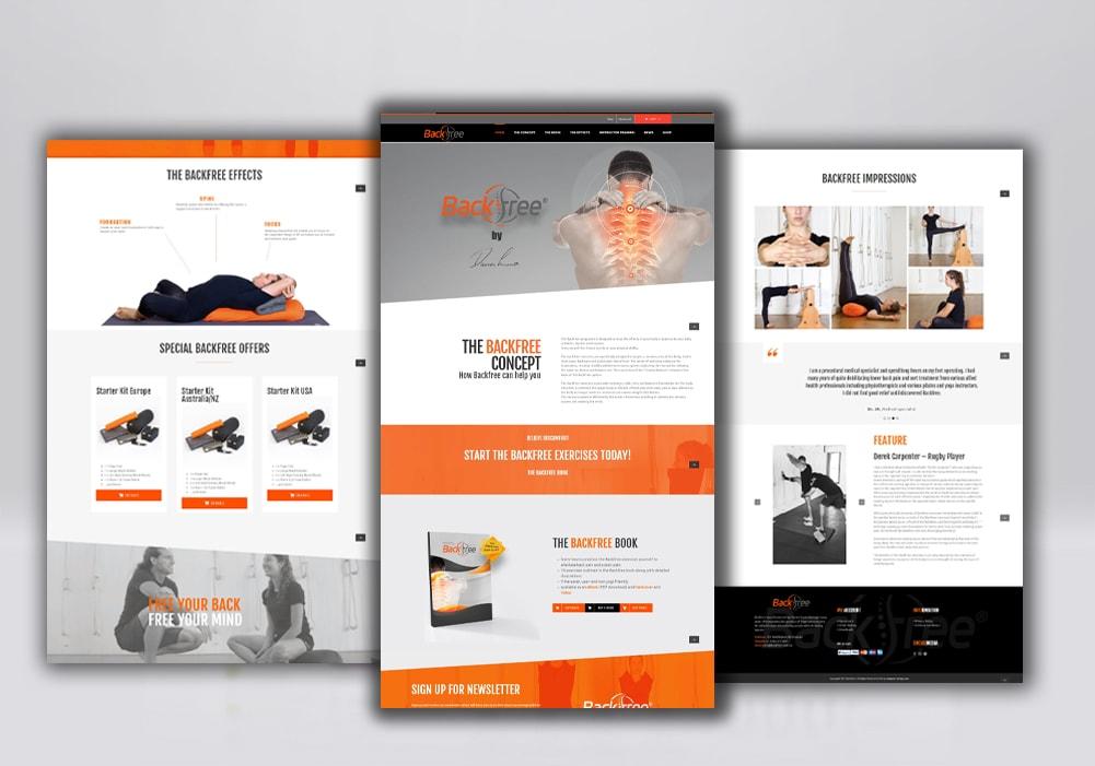 Backfree Webseite