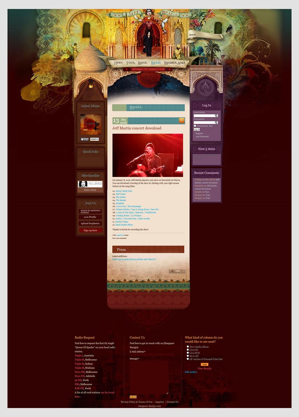 Jeff Martin 777 Webseite
