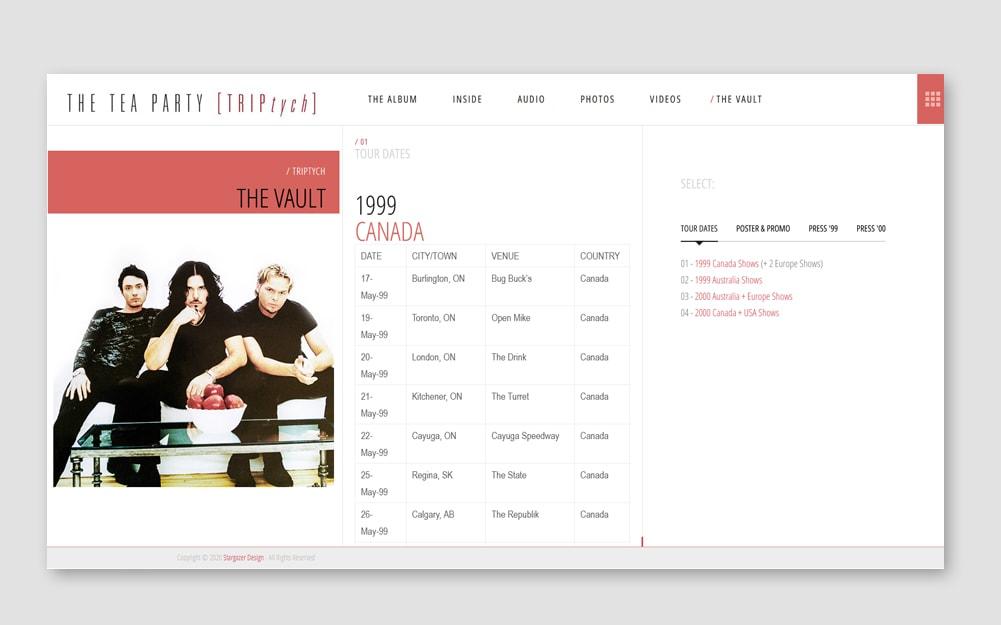 Triptych Webseite