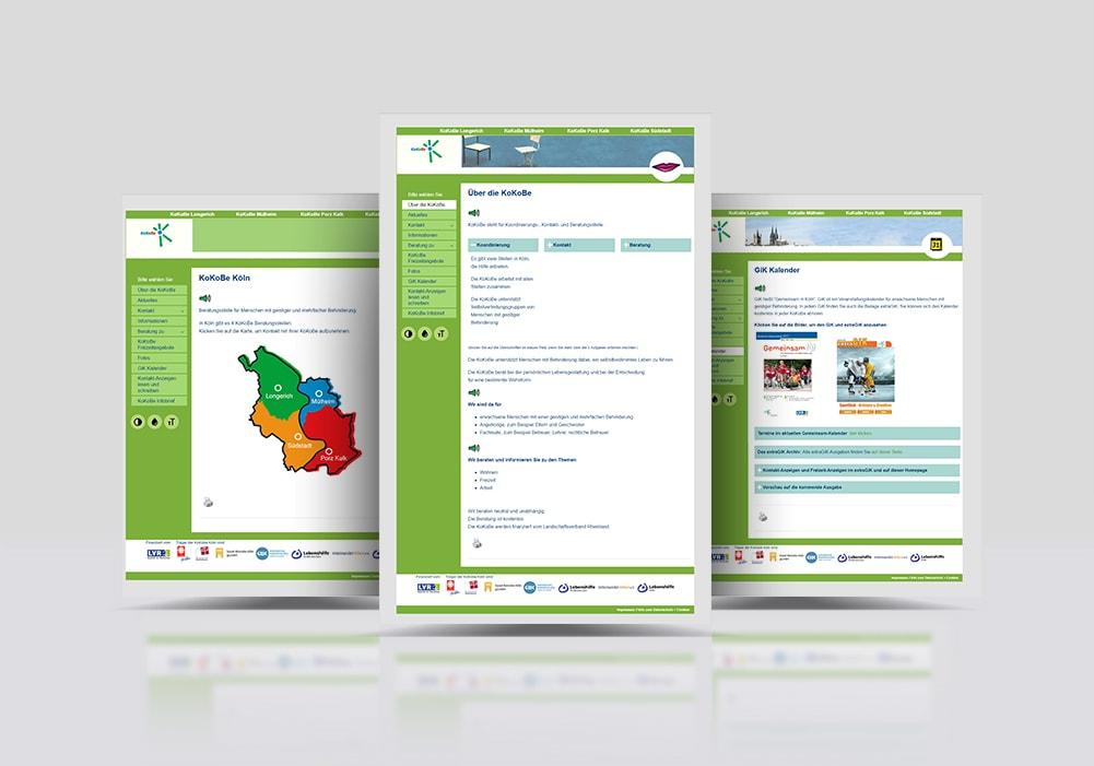 KoKoBe Webseite