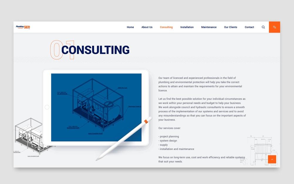 Plumbing Webseite