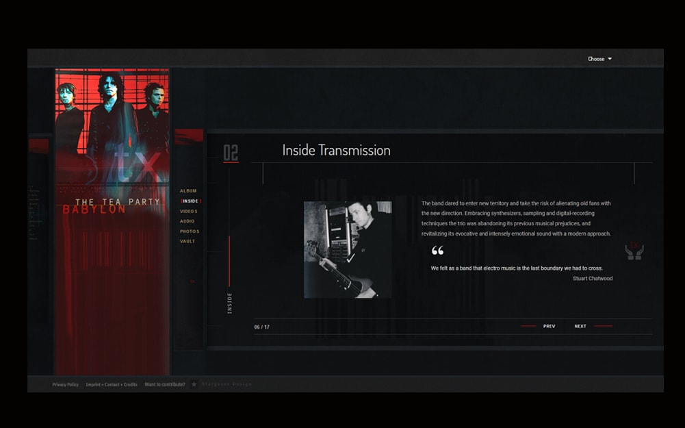 Transmission Webseite